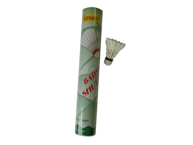 Badmintonové míčky péřové 12 ks