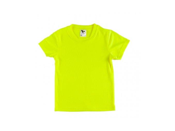Sportovní tričko DĚTSKÉ - fluorescenční barva žlutá
