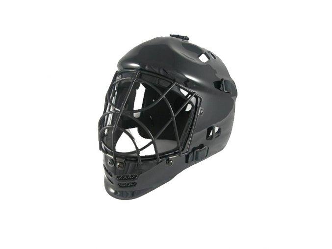 brankarska maska cerna