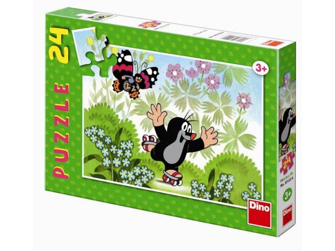 puzzle krtecek na bruslich