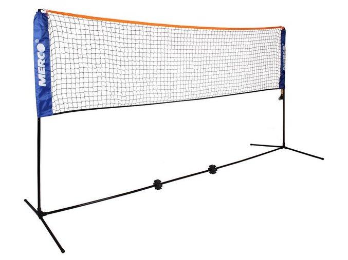 Tenis/badminton set 3 m stojany na kurt vč. sítě