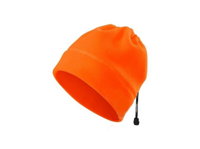 cepice practic hv fleece oranzova