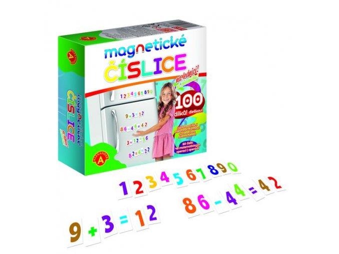 Magnetické číslice na lednici