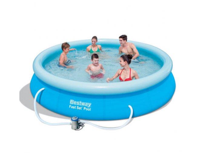 Bazén samostavěcí 366x76 cm s filtrem