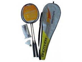 Badmintonová sada se sítí - 2 pálky + košíčky