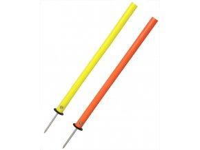60272 slalomova tyc gummy s ocelovym bodcem 55 cm liski v