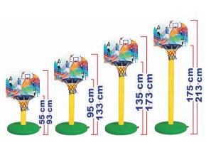 Basketbalový stojan 55-175 cm