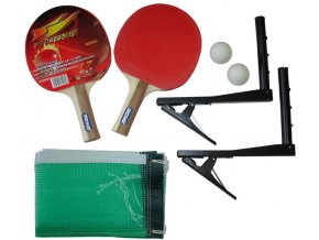 Sada na stolní tenis - pálky, míčky, síťky, držák