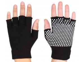 rukavice na jogu grippy cerne