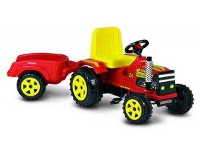 1323 traktor FARMER červený s vozíčkem