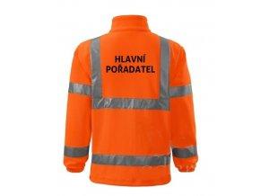 bunda hv fleece hlavni poradatel oranzova