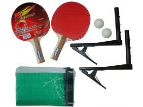 Sada na stolní tenis - pálky, míčky, síťky, držák 2