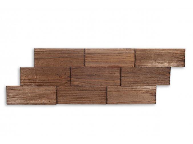 Drevený obklad na stenu- Hnedá 4 ks v balení PSDA_640X195X13_BSK4
