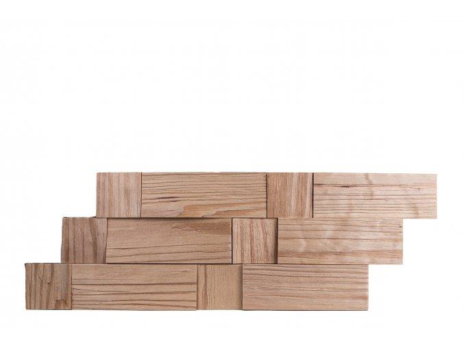 Drevený obklad na stenu- Prírodná 4 ks v balení PSDB_595X195X13_NSK4