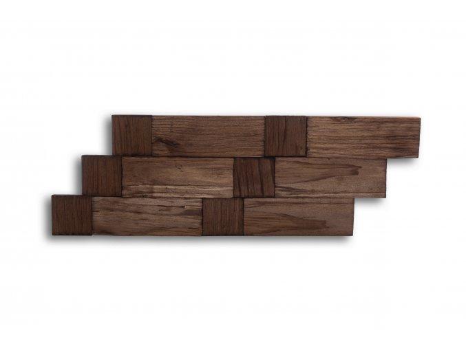 Drevený obklad na stenu- Hnedá 4 ks v balení PSDB_640X195X13_BSK4