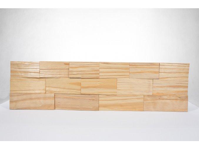 Drevený obklad na stenu- Prírodná 4 ks v balení PSDC_720X195X13_NSK4