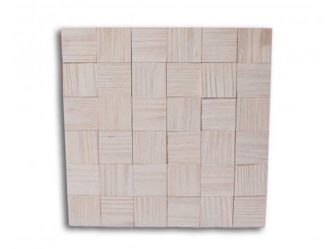 Drevený obklad na stenu- Biela 4 ks v balení PSDD_392X392X13_WSK4