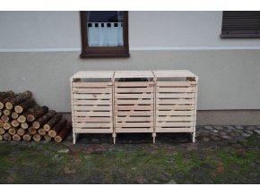 Drevený box na odpadové nádoby OBK-120L-3-FAREBNÉ VARIANTY