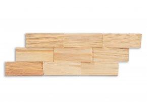 Drevený obklad na stenu- Prírodná  4 ks v balení PSDA_640X195X13_NSK4