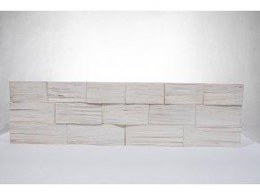 Drevený obklad na stenu- Biela 4 ks v balení PSDC_720X195X13_WSK4