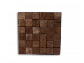 Drevený obklad na stenu- Hnedá 4 ks v balení PSDD_392X392X13_BSK4