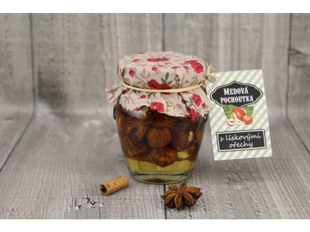 Med s lískovými ořechy 145ml