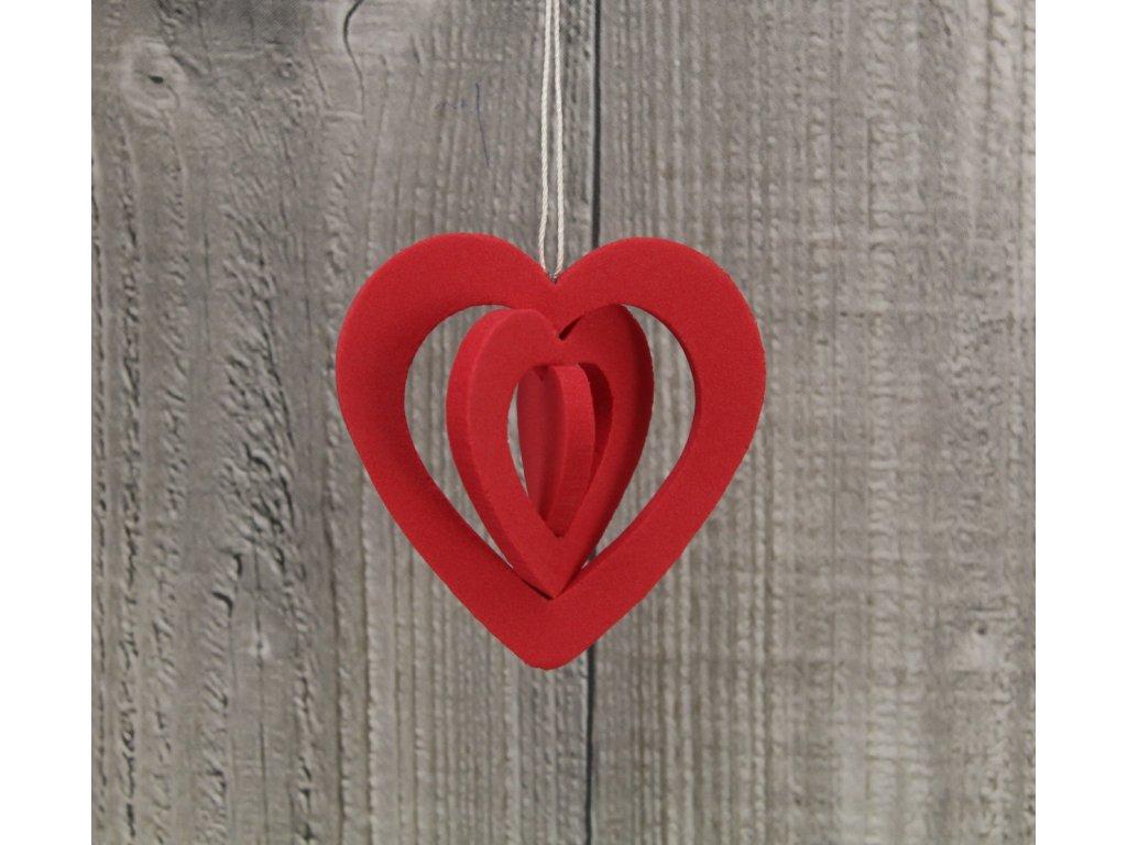 Srdce pěnové malé