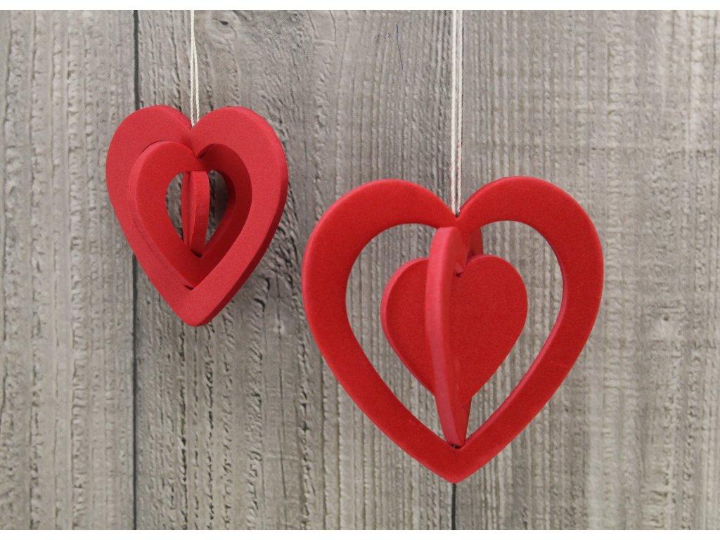 Srdce pěnové velké