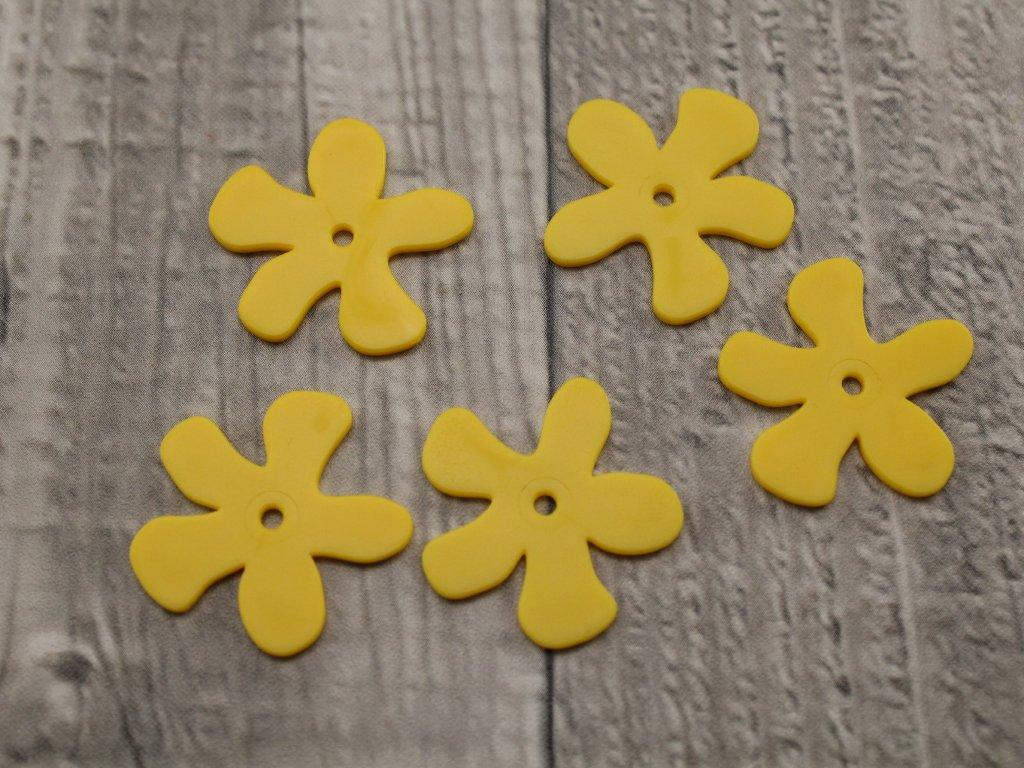 Kytka plast žlutá