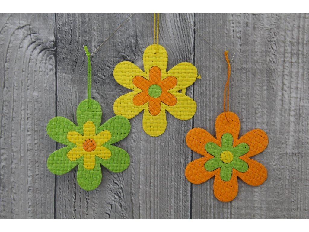 Květ papyrus malý zelenooranžový