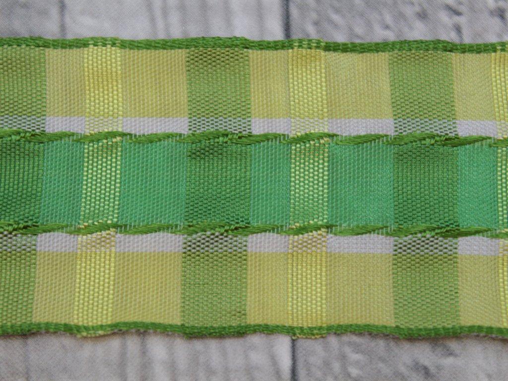 Stuha 40mm proužek/zelená