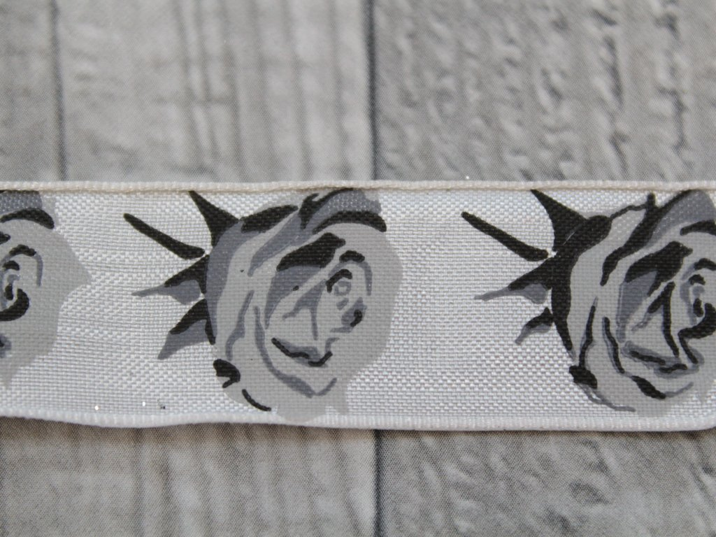 Stuha 25mm růže