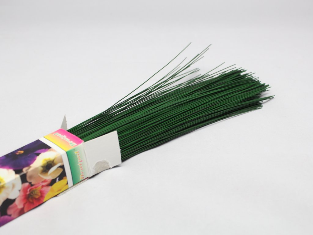 Dráty sekané zelené 0,8mm