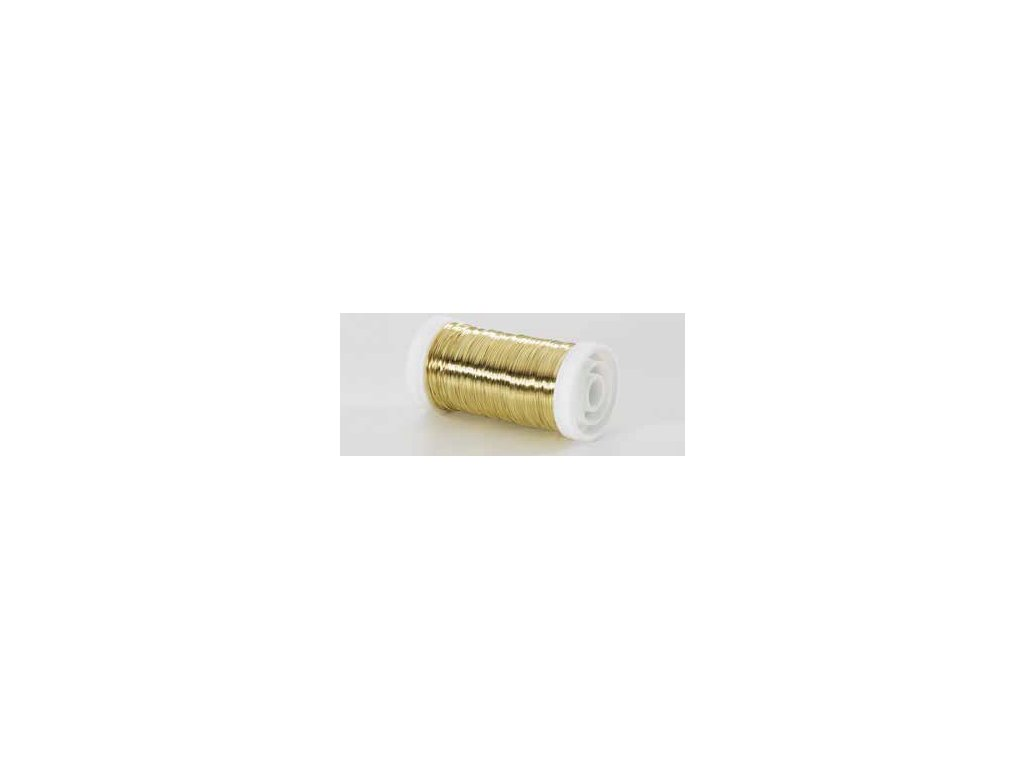 Drátek hladký zlatá 0,3mm