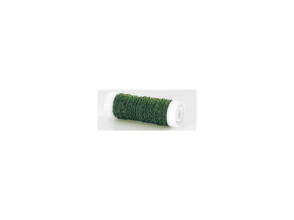 Drátek vlnitý 0,3mm oliva 16