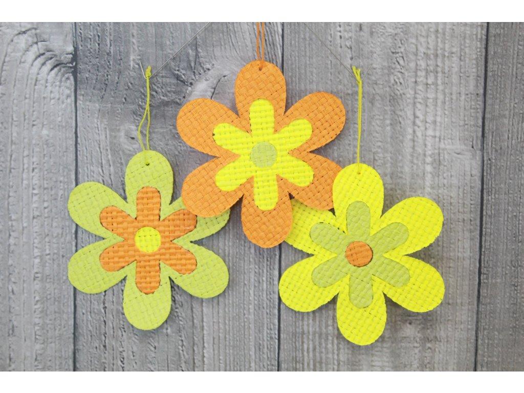 Květ papyrus velký žlutozelený