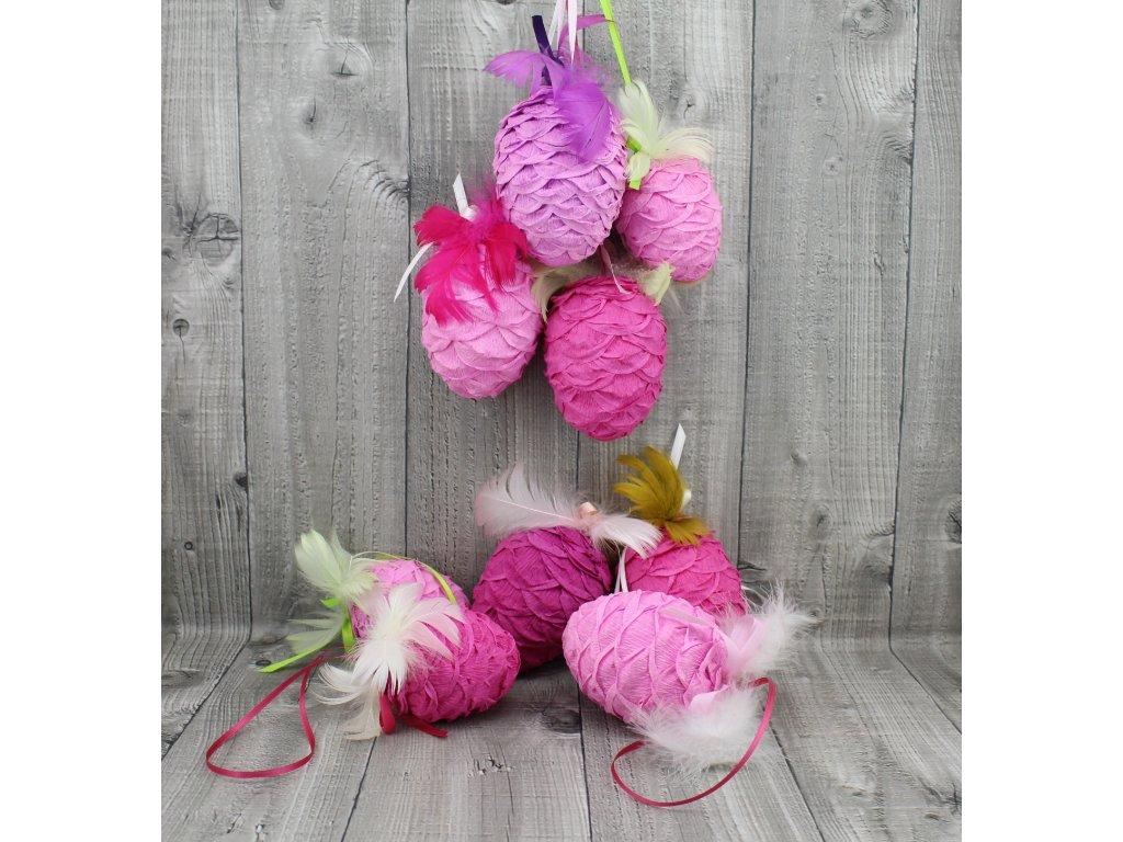 Vejce krepové-růžový mix