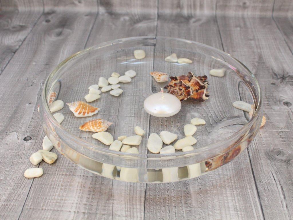Svíčka plovoucí lakovaná perleťová