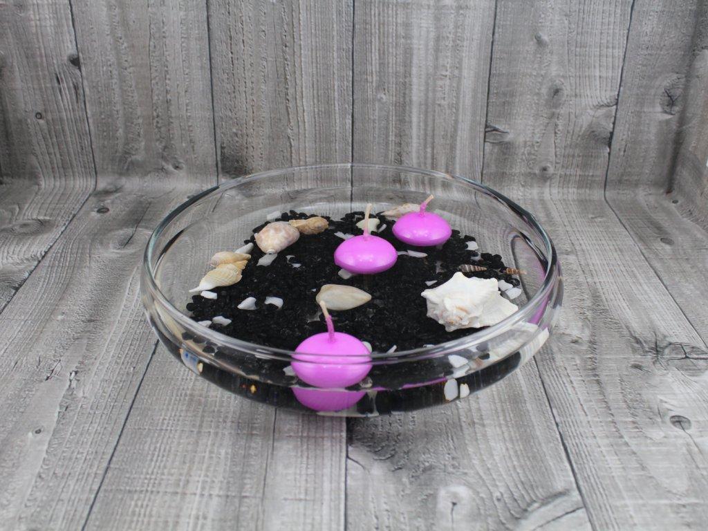 Svíčka plovoucí lakovaná růžová