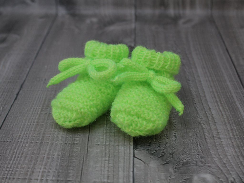 Bačkůrky mimi jednobarevné zelené signální
