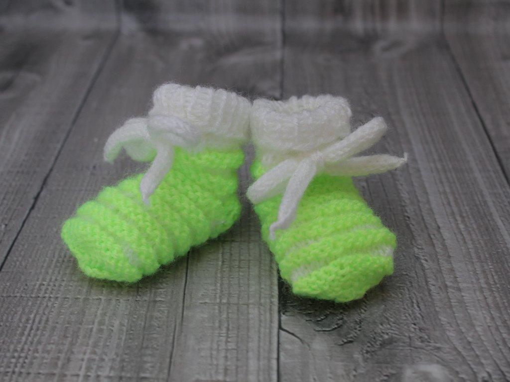 Bačkůrky mimi dvoubarevné zelené signální