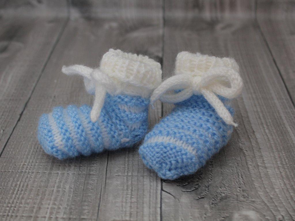 Bačkůrky mimi dvoubarevné modré světlé