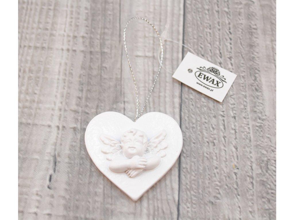 Miniatura závěsná andílek