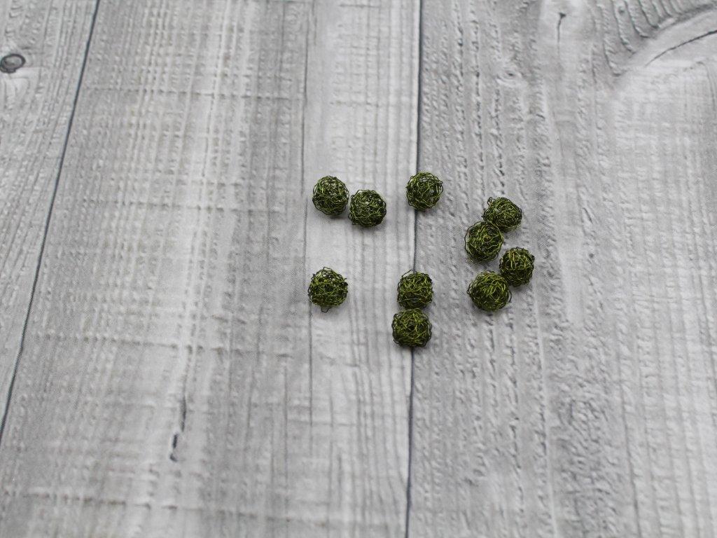 Drátkové kouličky vlnité oliva 16