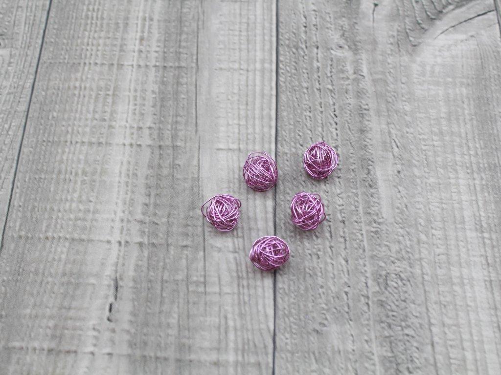 Drátkové kouličky hladké levandule 36
