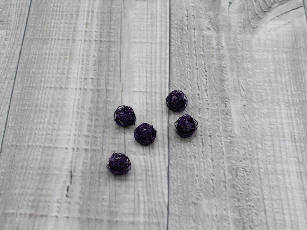 Drátkové kouličky hladké lilek 03