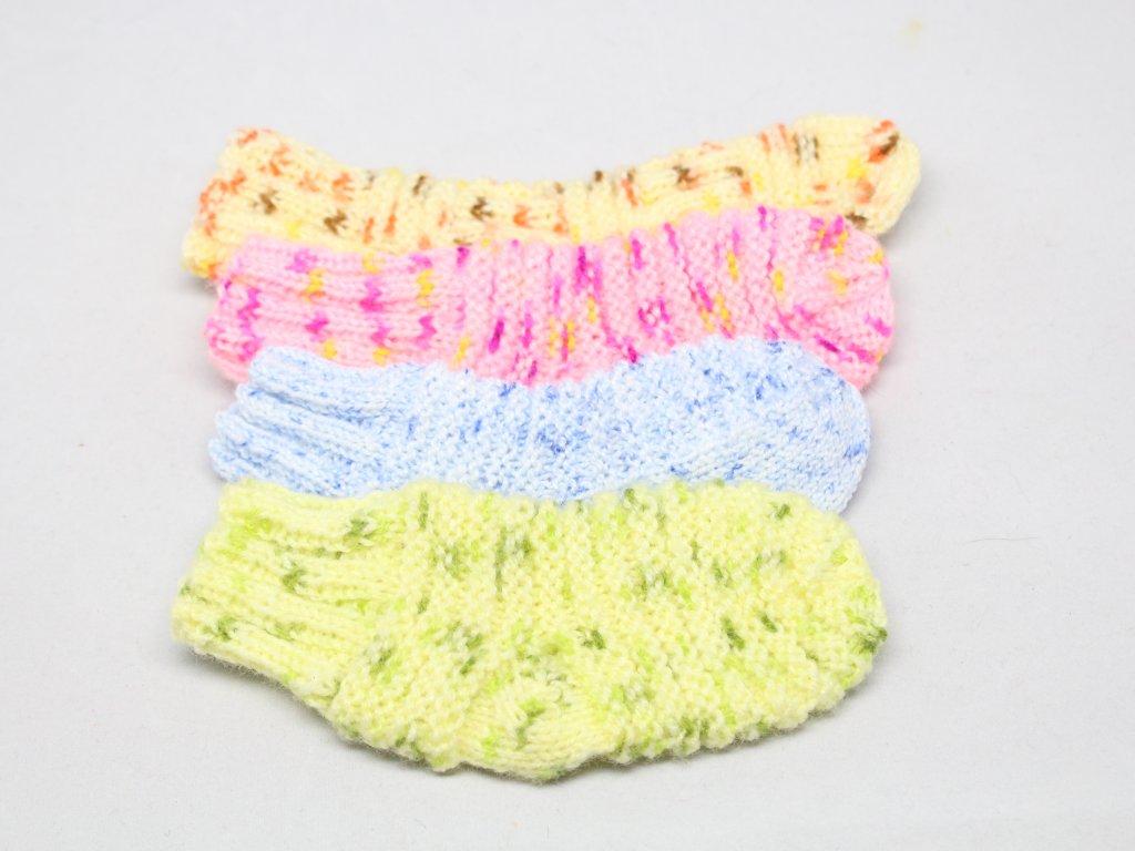 Ponožky pletené 18/19 Barva: Modrá světlá