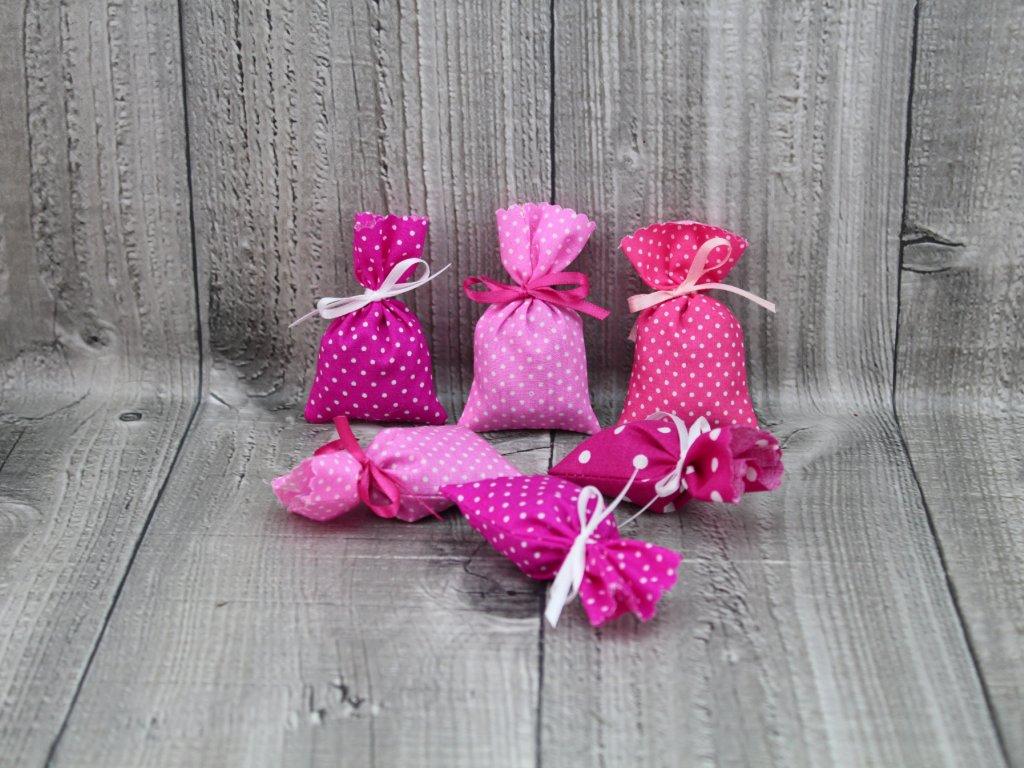 Sáčky vonné levandulové mix růžový