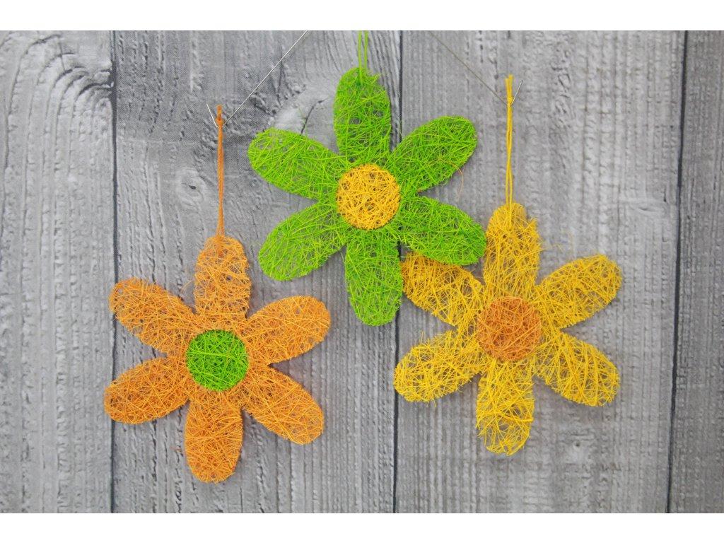 Květ sisal velký jarní barvy