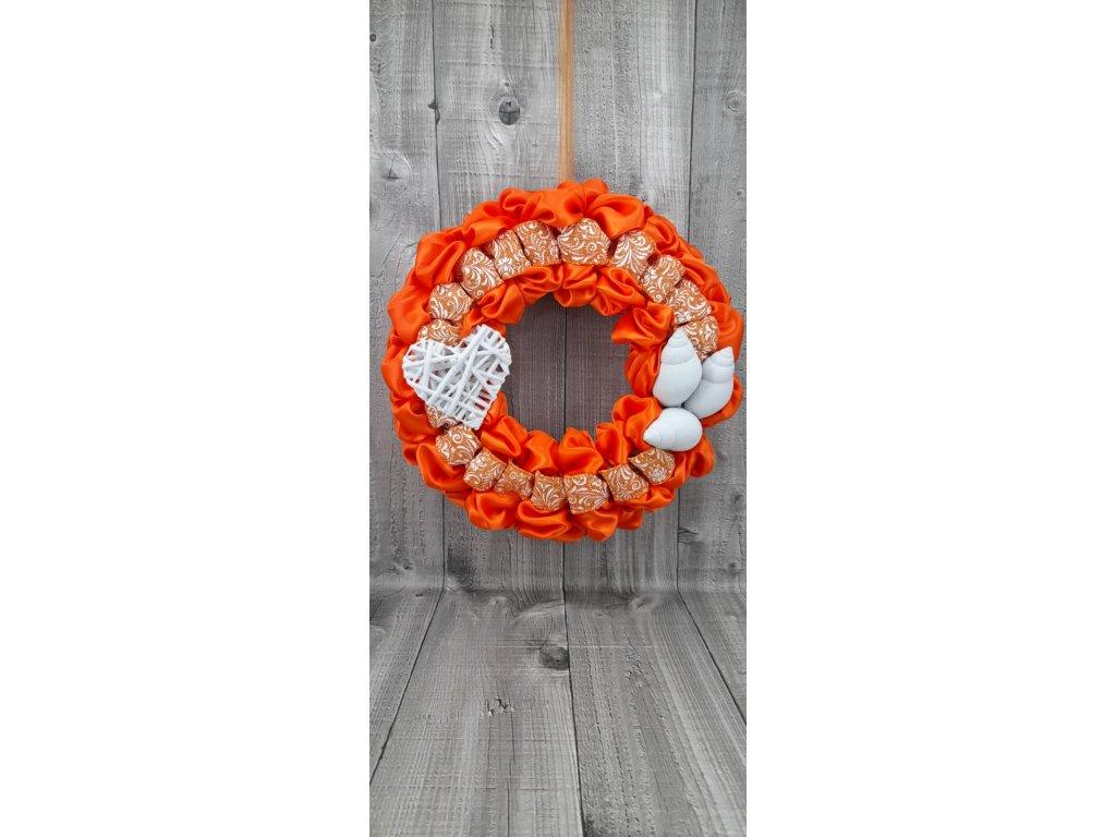 Věnec jarní-oranžový